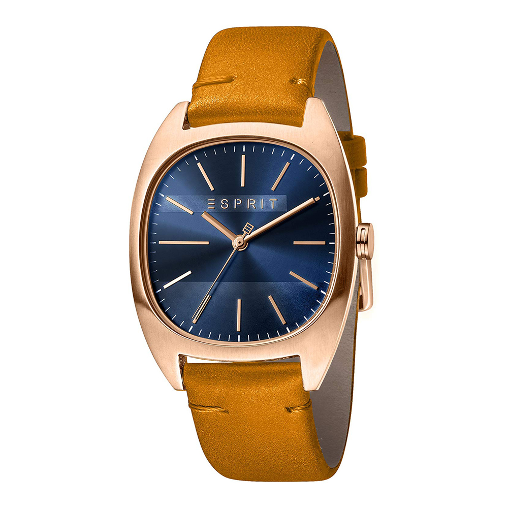 Esprit ES1G038L0055 Infinity Blue Rosegold Brown Mens Watch