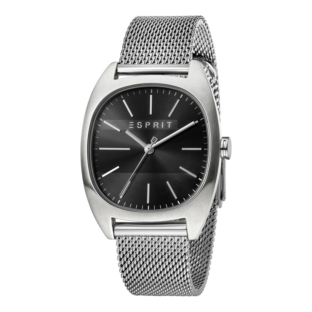 Esprit ES1G038M0075 Infinity Black Silver Mesh Mens Watch
