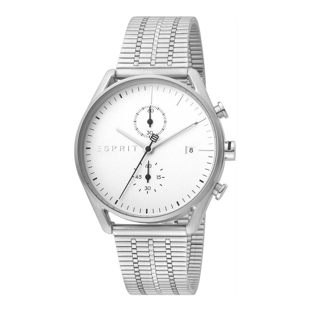 Esprit ES1G098M0055 Lock Chrono Silver Mesh Mens Watch Chronograph