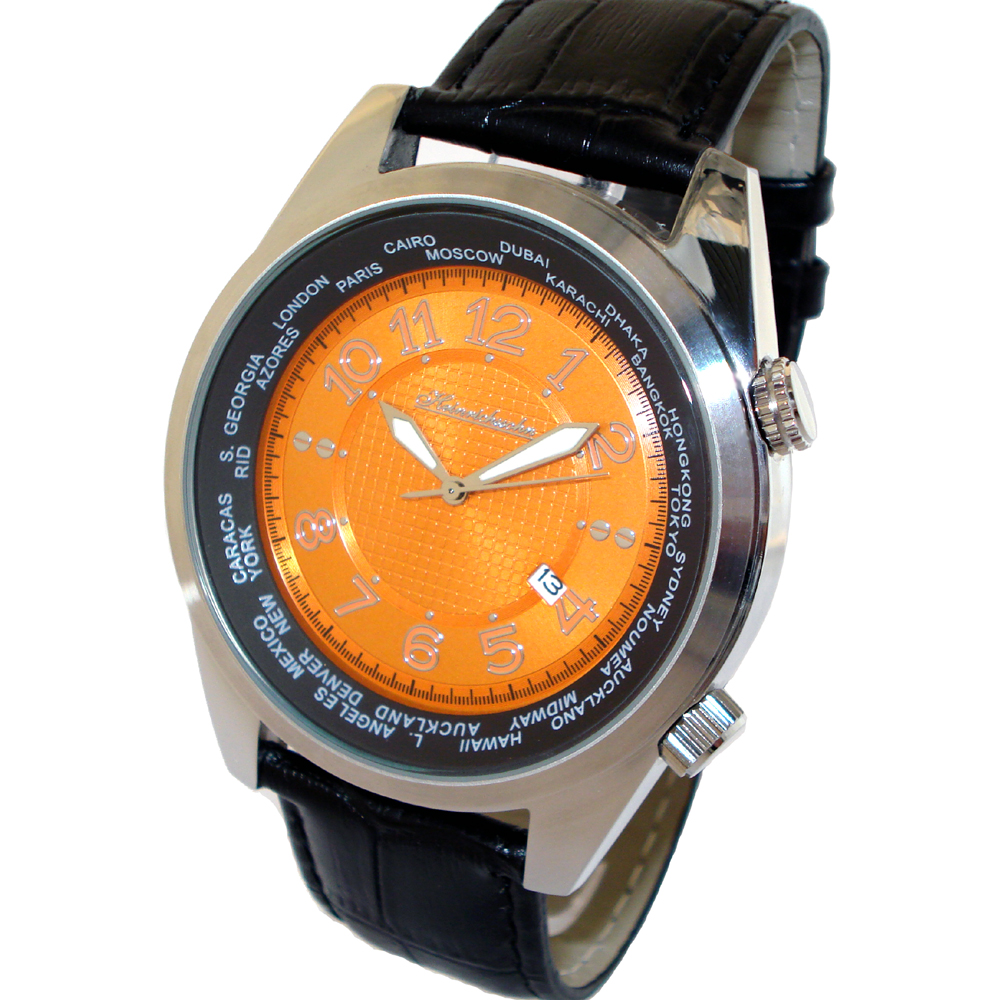 HEINRICHSSOHN Danzig Orange HS1003O Mens Watch