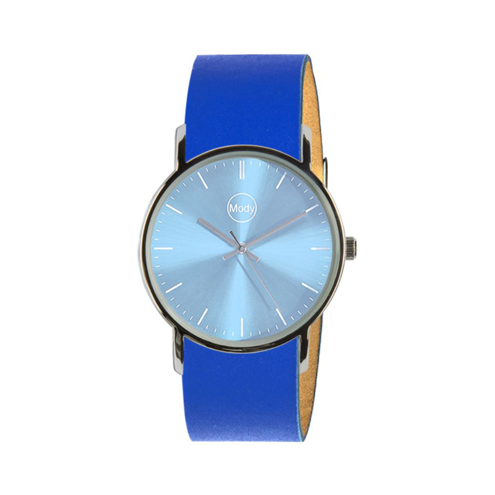 Mody Shinylightblue-Blue Ladies Watch Mens Watch