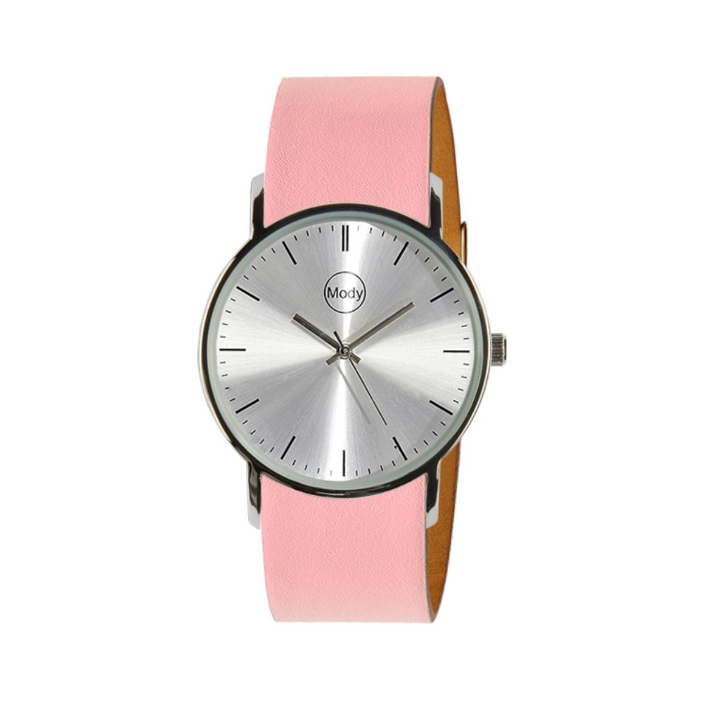 Mody Shinysilver-Pink Ladies Watch Mens Watch