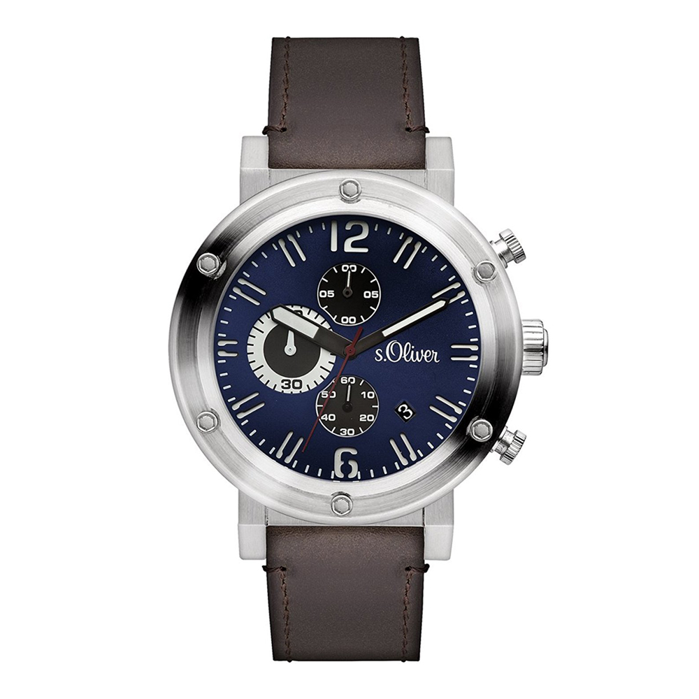 s.Oliver SO-15158-LCR Mens Watch Chronograph