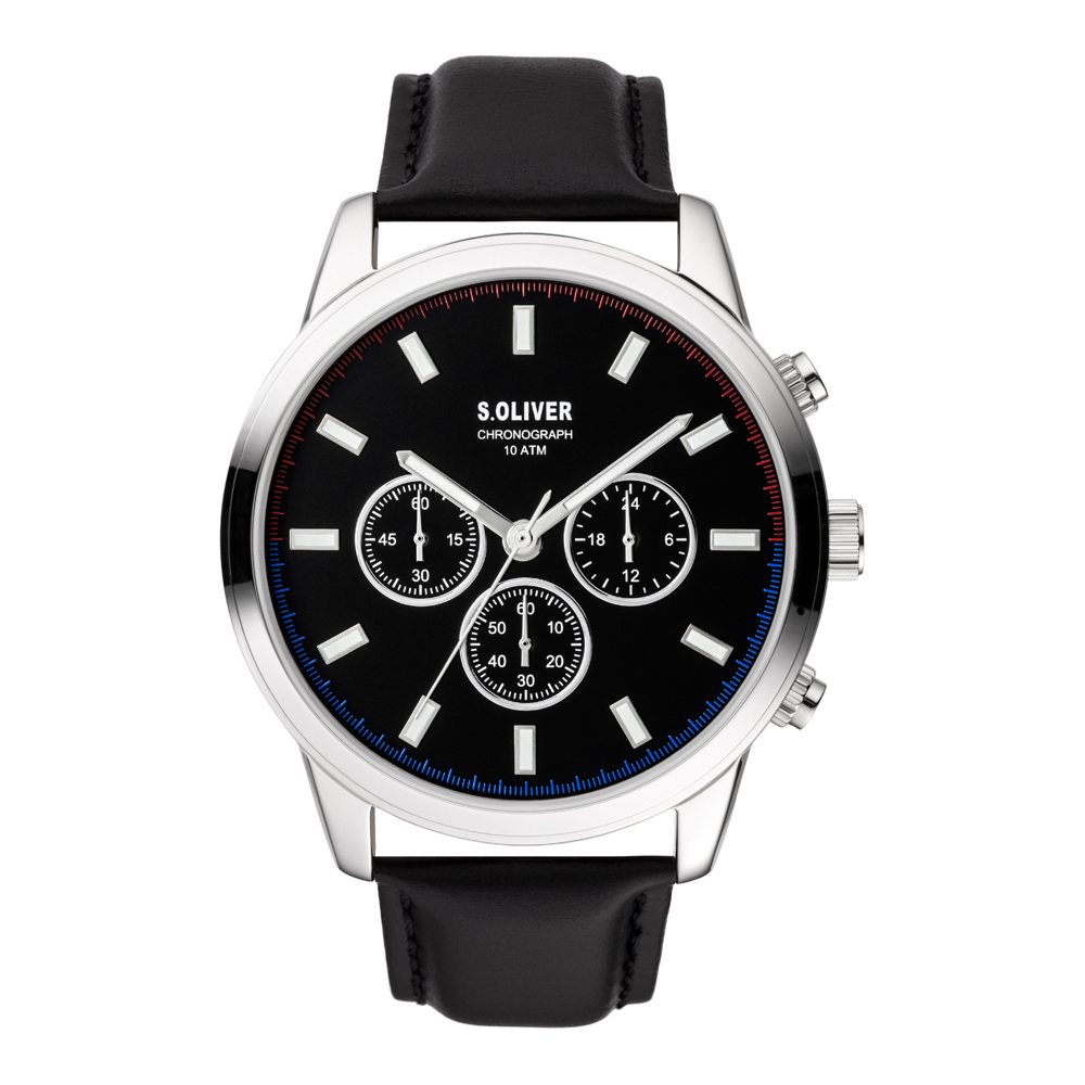 s.Oliver SO-3858-LC Mens Watch Chronograph