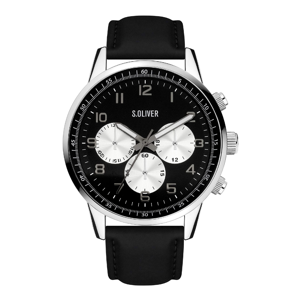 s.Oliver SO-4111-LC Mens Watch Chronograph